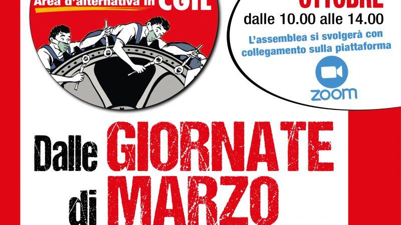 Assemblea nazionale online dell'area GIORNATE DI MARZO