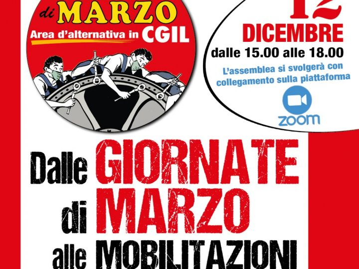 Presentazione dell'area Giornate di marzo a Milano