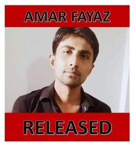 Pakistan – Amar Fayaz è stato liberato!