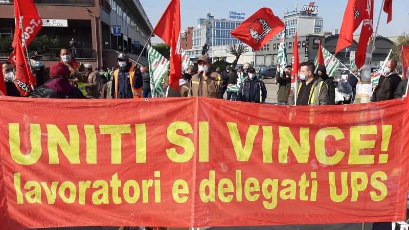 Sciopero logistica: una giornata di lotta ai cancelli di Ups Milano!