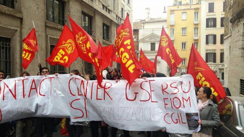 Con i lavoratori GSE  Almaviva contact Roma in lotta!